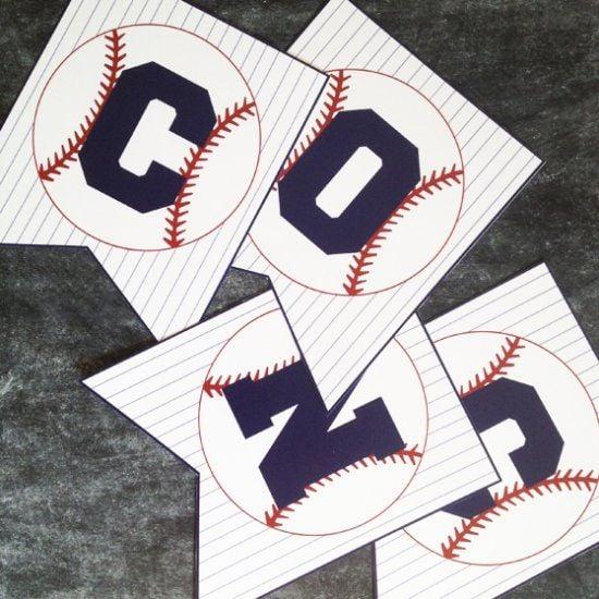 Free Baseball Concessions Banner Printable | Baseball Party Ideas