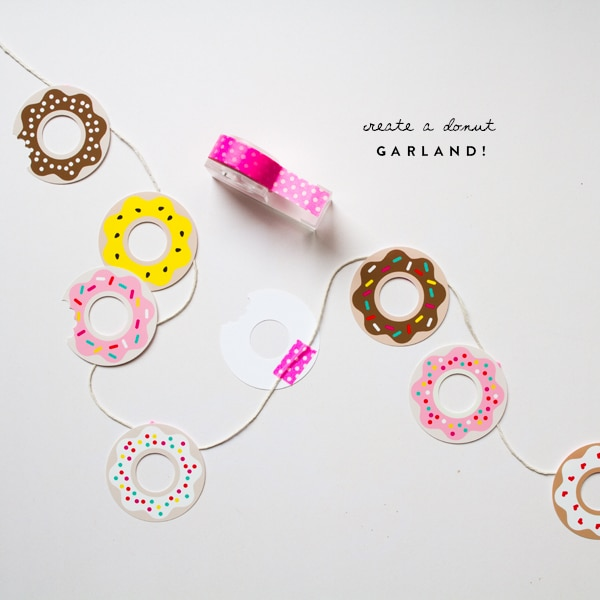 Free Printable Donut Garland | Donut Themed Party Ideas