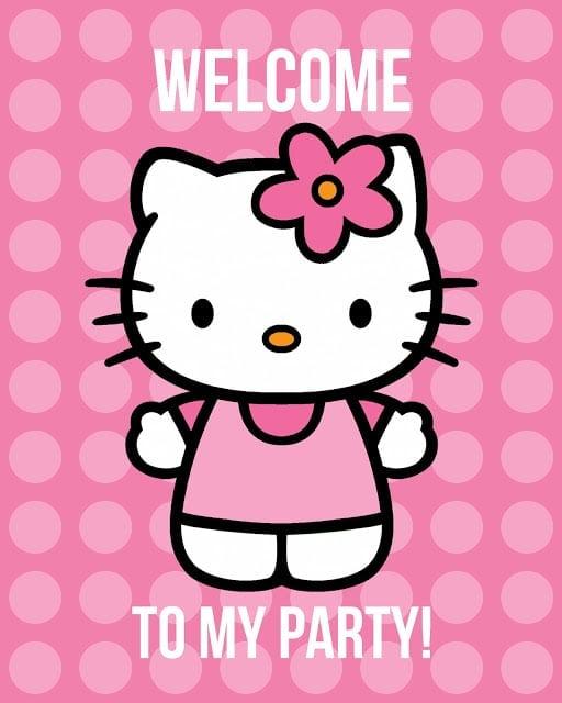 Free Hello Kitty Printable Party Sign | Hello Kitty Party Ideas