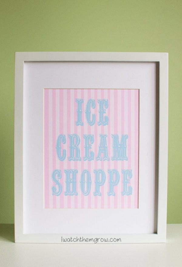 Free Ice Cream Party Printable Sign | Ice Cream Party Ideas