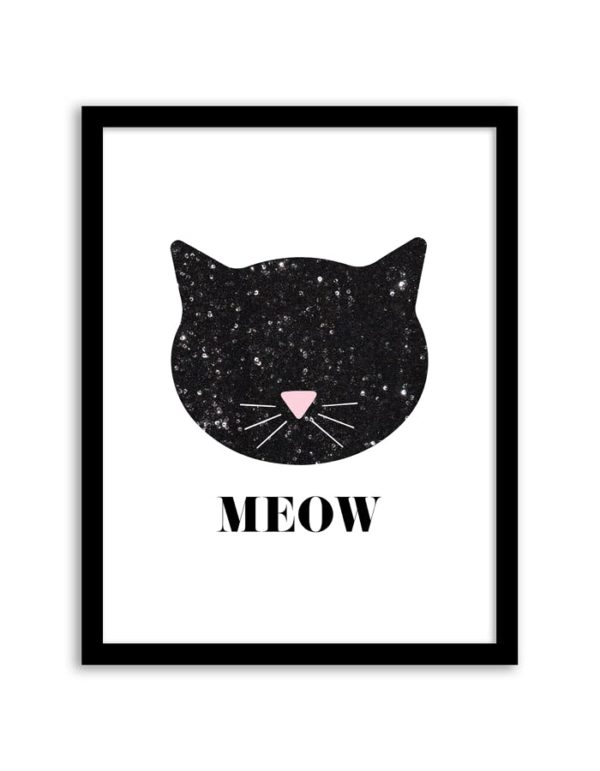 Amazing Sequin Kitty Cat Wall Art Printable Cat Party Ideas