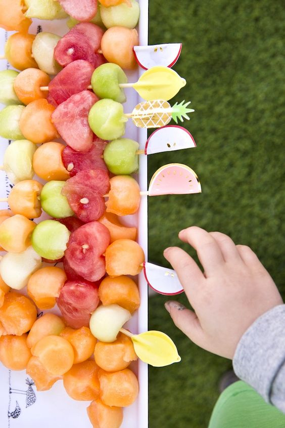 Fruit Kabobs | Tutti Frutti Party Ideas