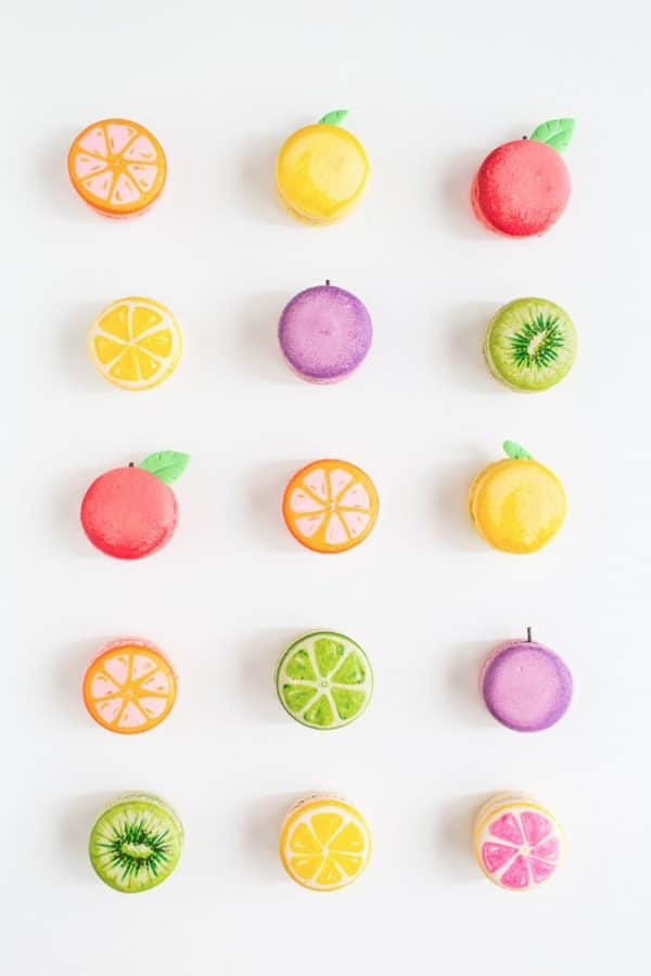 DIY Fruit Macarons | Tutti Frutti Party Ideas