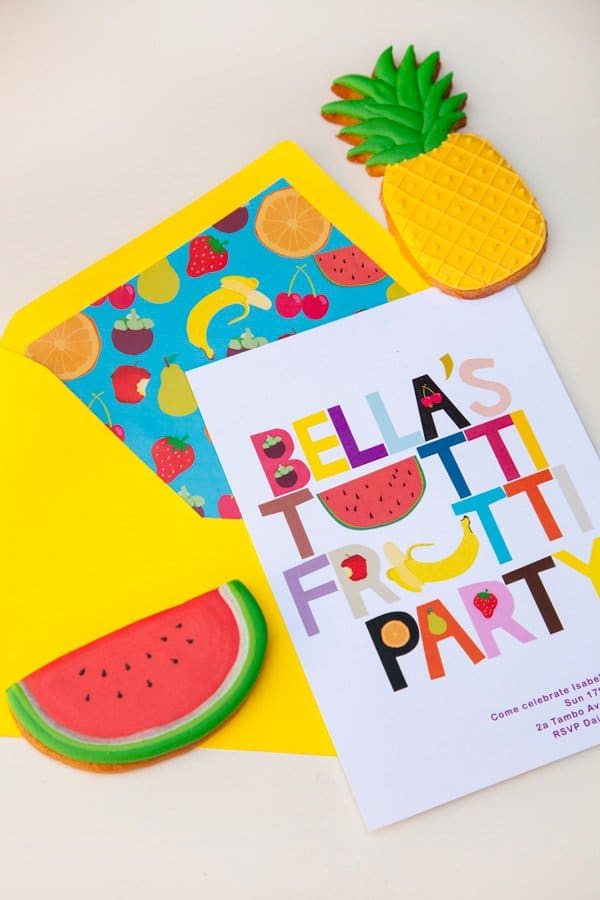 Tutti Frutti Party Invitation | Tutti Frutti Party Ideas