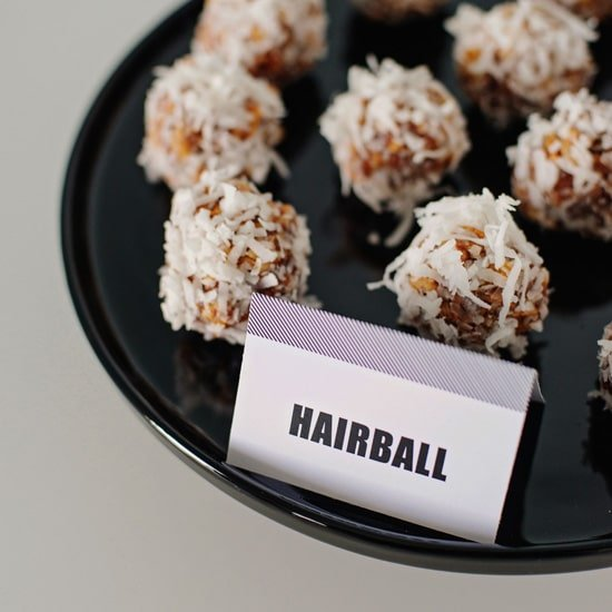 Hair Ball Cookies | Cat Party Ideas