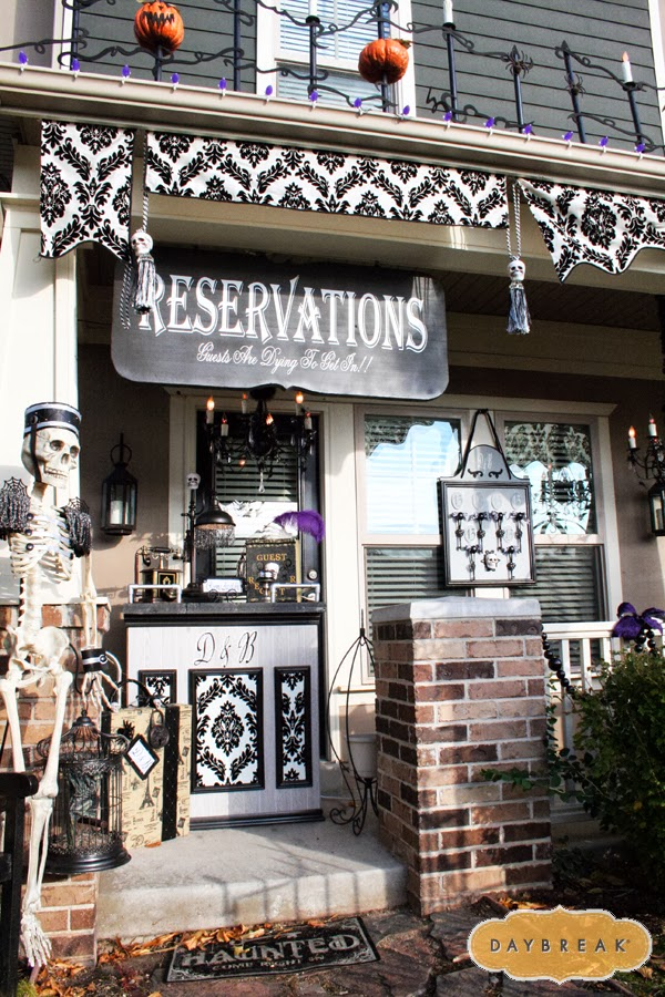"""""""Dead and Breakfast"""" Halloween Porch Decorations"""