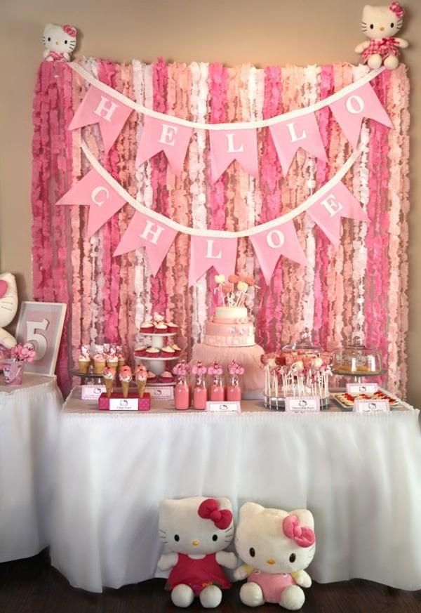 Hello Kitty Party Dessert Table | Hello Kitty Party Ideas