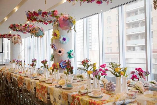 Beautiful floral high tea bridal shower for High tea decor ideas