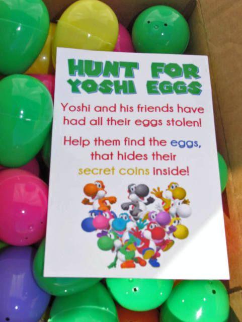 Hunt For Yoshi Eggs Game | Super Mario Party Ideas