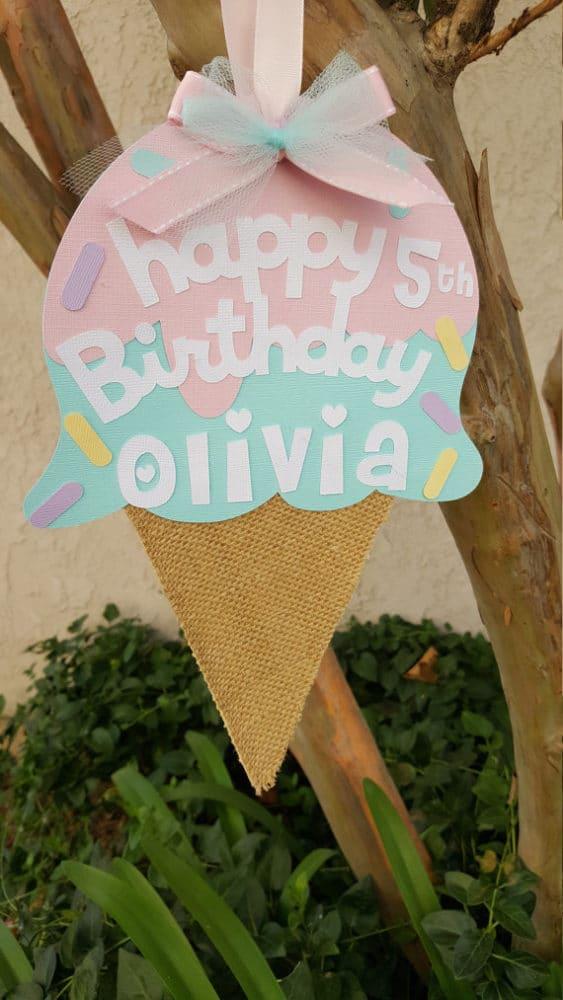 Ice Cream Cone Party Sign | Ice Cream Party Ideas