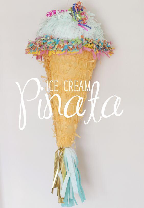 DIY Ice Cream Cone Pinata | Ice Cream Party Ideas