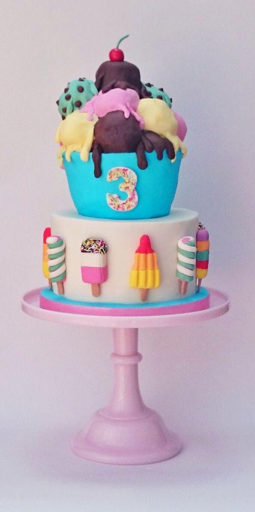 Ice Cream Sundae Cake | Ice Cream Party Ideas
