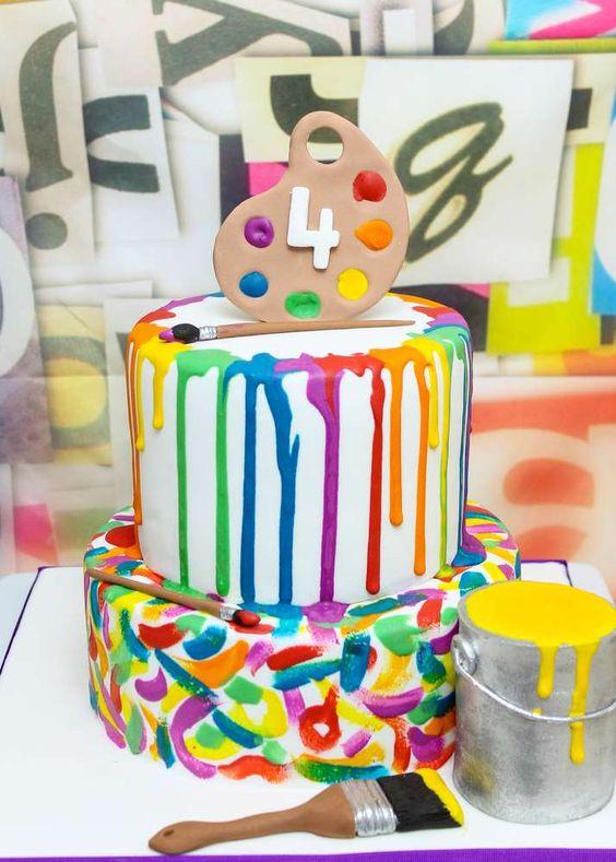 Little Artist Birthday Cake | Art Themed Party Ideas