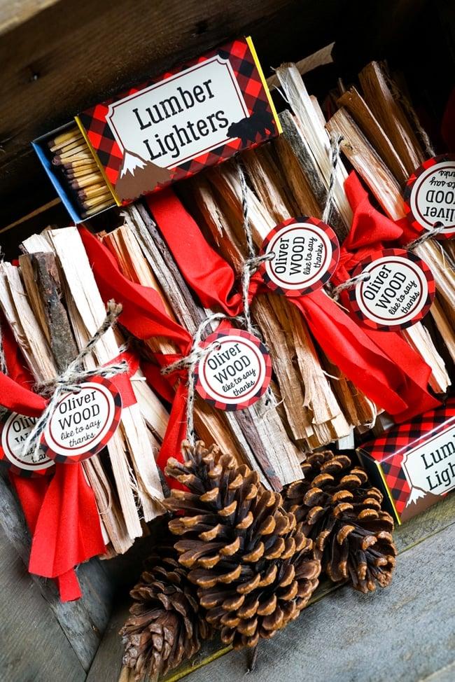 Lumberjack Party Lumber Lighter Favors