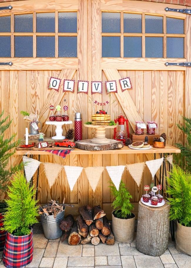 Lumberjack Birthday Party Dessert Table