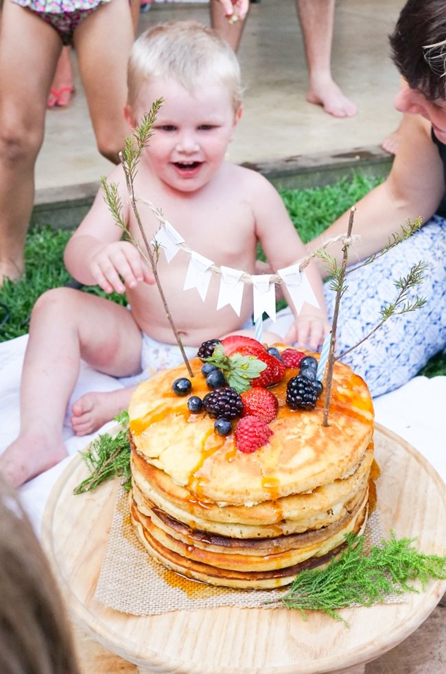 Lumberjack Party Pancake Cake