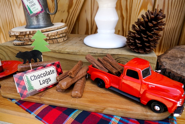 Lumberjack Party Chocolate Logs
