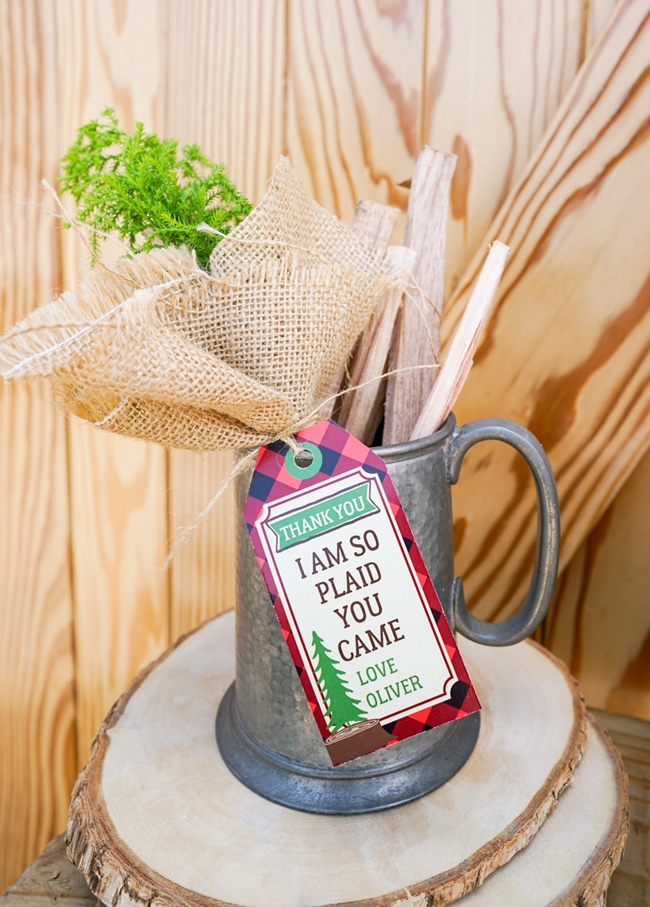 Lumberjack Party Favor Tags