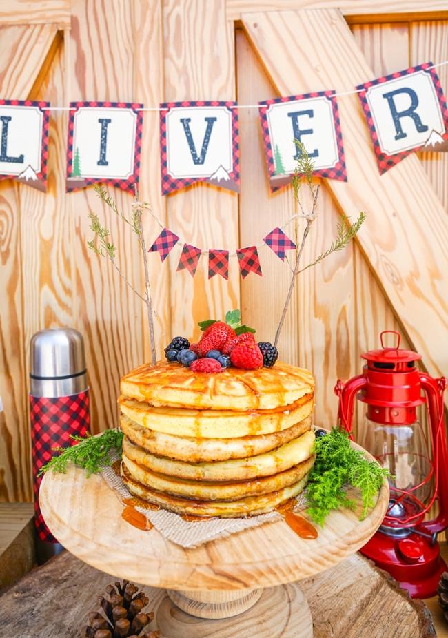 Lumberjack Birthday Party Pancakes