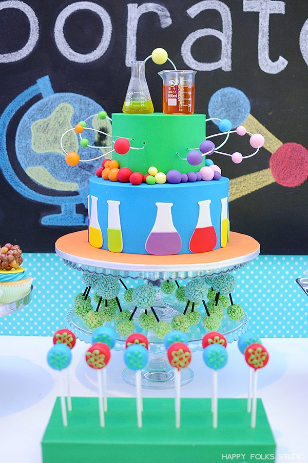 Mad Scientist Cake | Mad Scientist Party Ideas