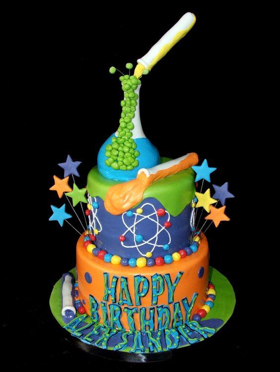 Mad Scientist Birthday Cake | Mad Scientist Party Ideas