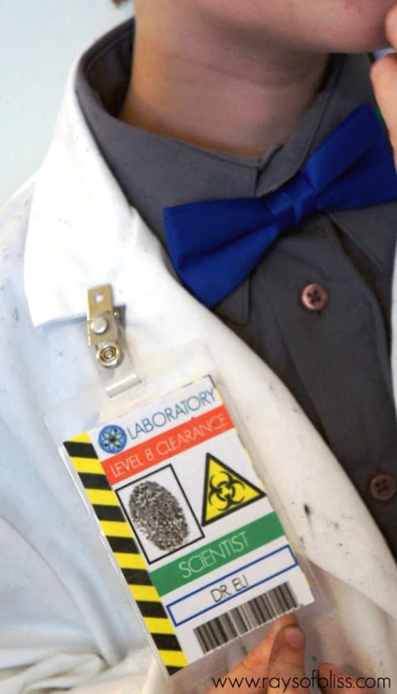 Mad Scientist Free Printable Badge | Mad Scientist Party Ideas