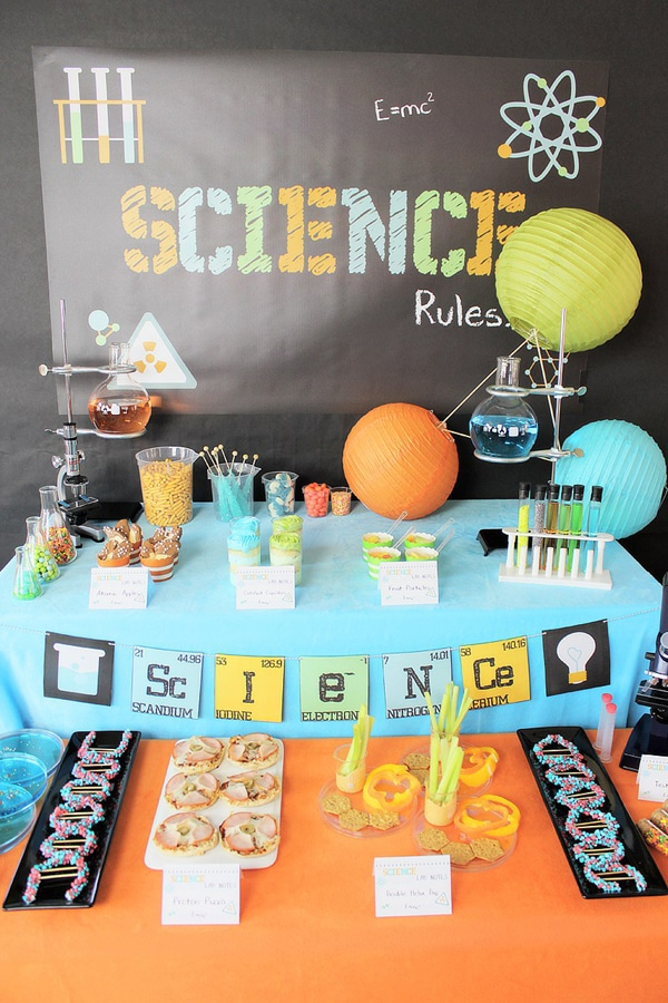Mad Scientist Food Table | Mad Scientist Party Ideas