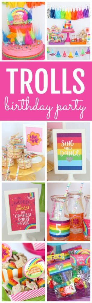 Magical Trolls Birthday Party featured on Pretty My Party