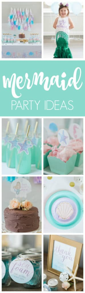 Magnificent Mermaid Themed Party featured on Pretty My Party