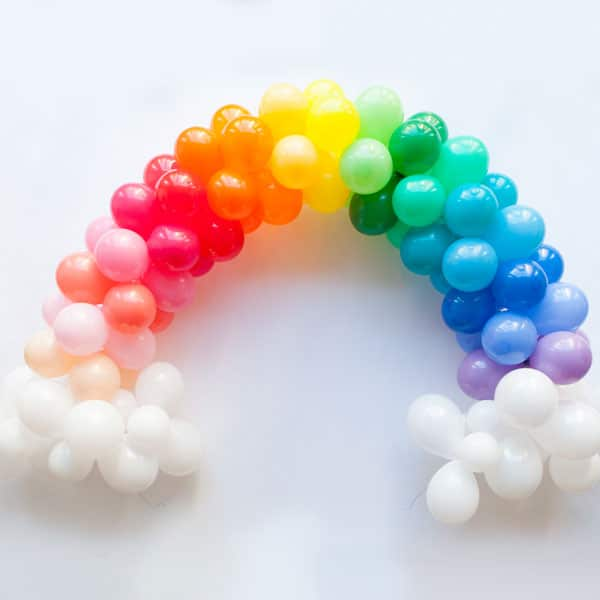 Mini Rainbow Balloon Arch | Rainbow Party Ideas