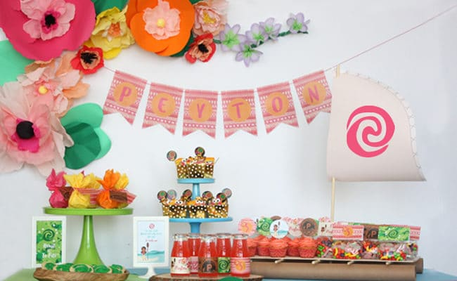 Fabulous Moana Themed Birthday Party
