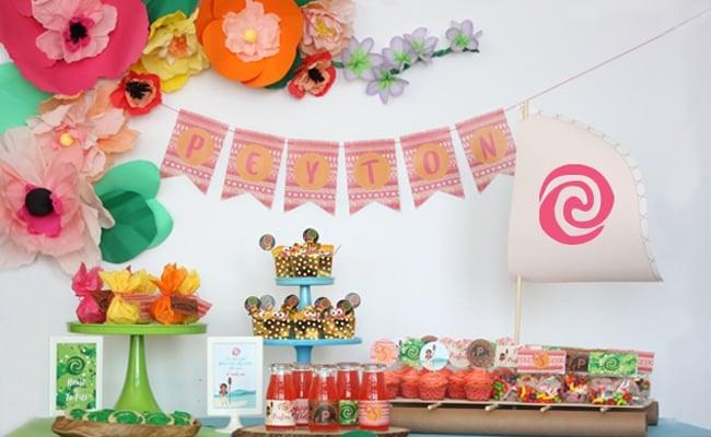 Fabulous Moana Themed Birthday Party