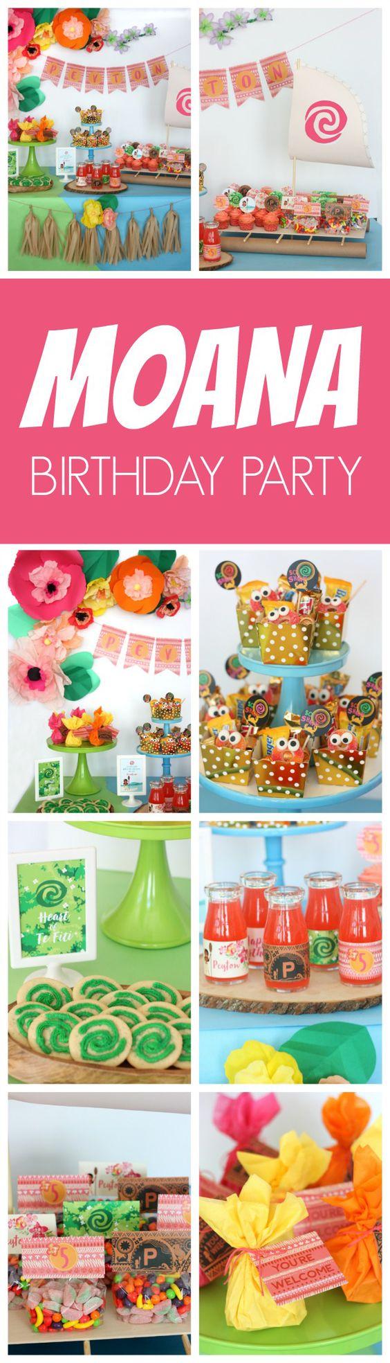 Fabulous Moana Themed Birthday Party - Pretty My Party