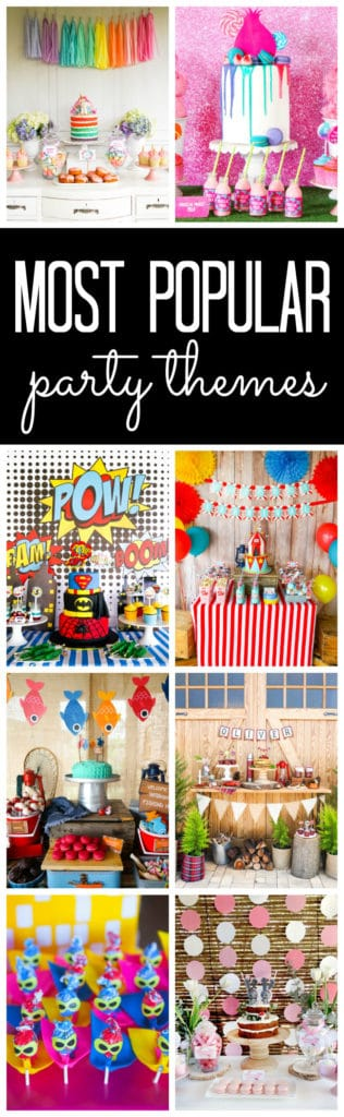 Most Popular Kids Party Themes featured on Pretty My Party