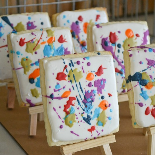 Art Party Cookies | Art Themed Party Ideas