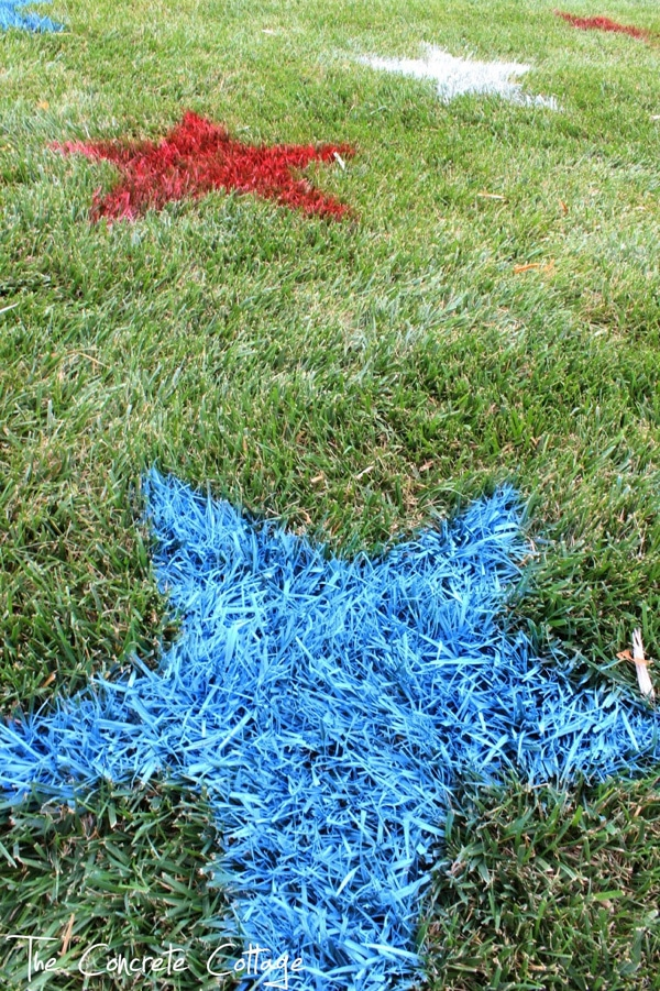 Painted Lawn Stars | Labor Day Party Ideas