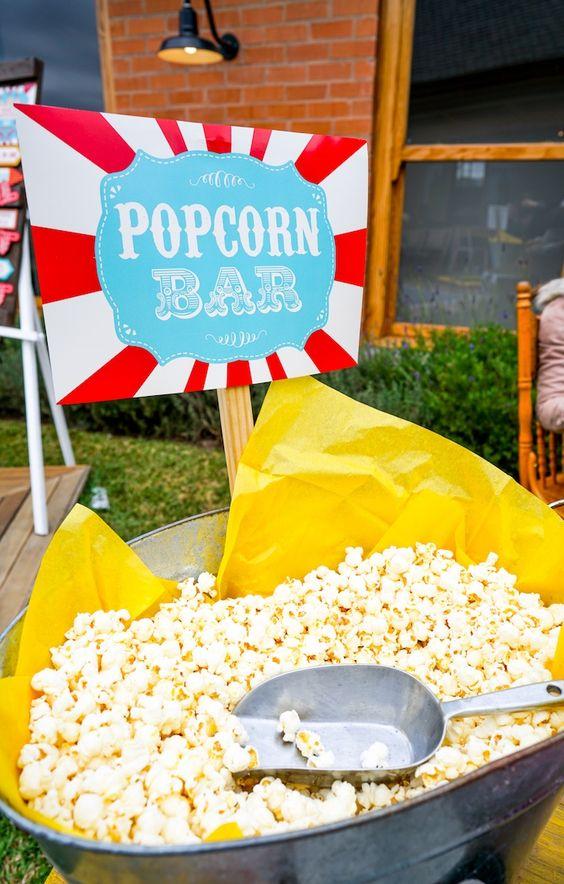 Popcorn Bar - Carnival Theme Party Ideas