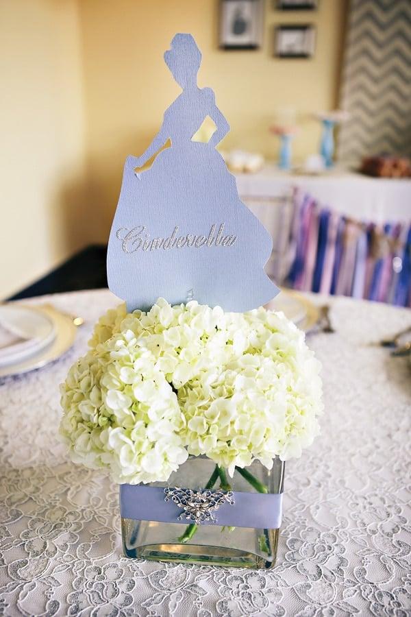 Cinderella Flower Centerpiece | Cinderella Party Ideas