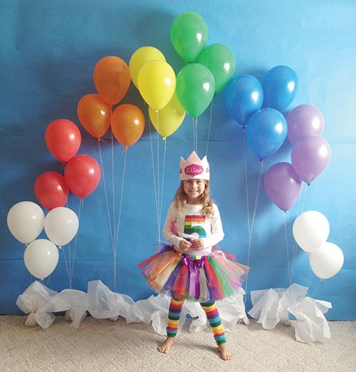Rainbow Balloon Party Decoration | Rainbow Party Ideas