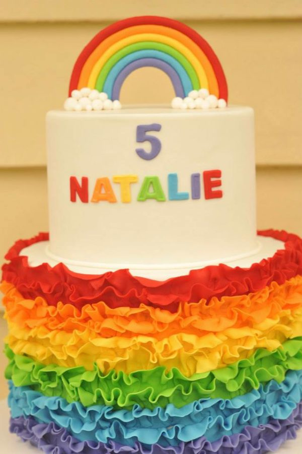 Rainbow Cake | Rainbow Party Ideas
