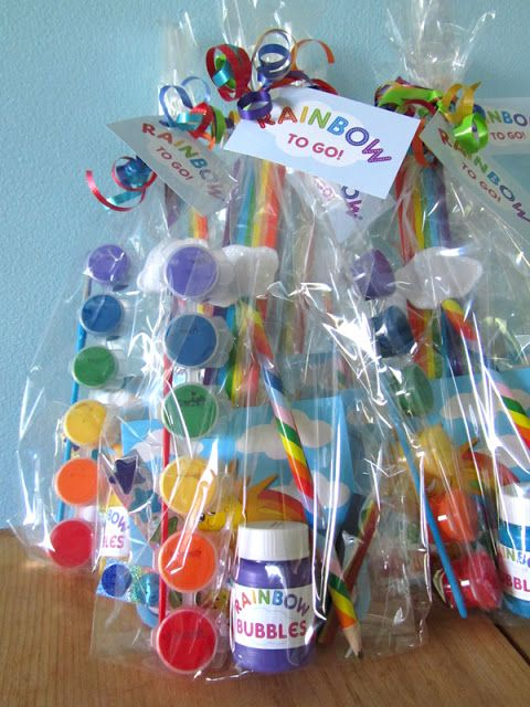 Rainbow Party Favors | Rainbow Party Ideas