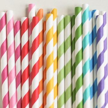 Rainbow Straws | Rainbow Party Ideas