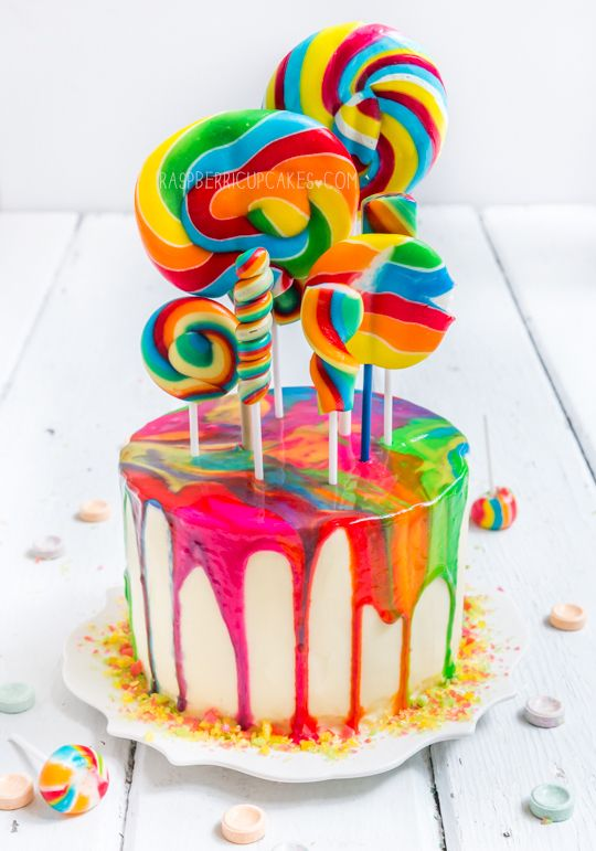 Rainbow Swirl Cake | Rainbow Party Ideas
