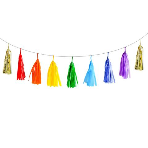 Rainbow Tassel Garland | Rainbow Party Ideas