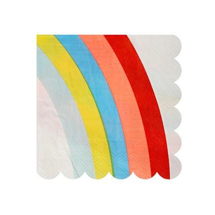 Small Rainbow Napkin | Rainbow Party Ideas