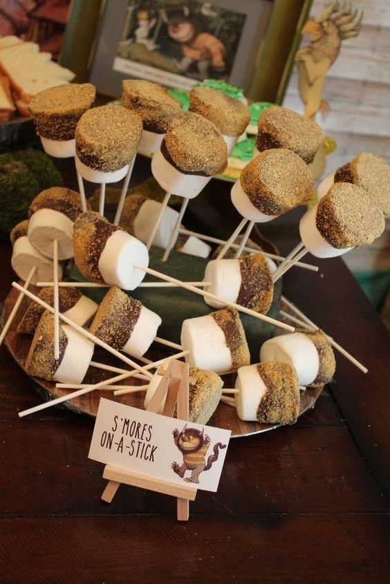 S'mores on a stick | Wild One Birthday Ideas