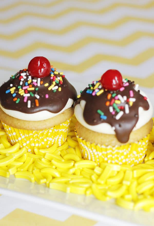 Ice Cream Sundae Cupcakes | Ice Cream Party Ideas