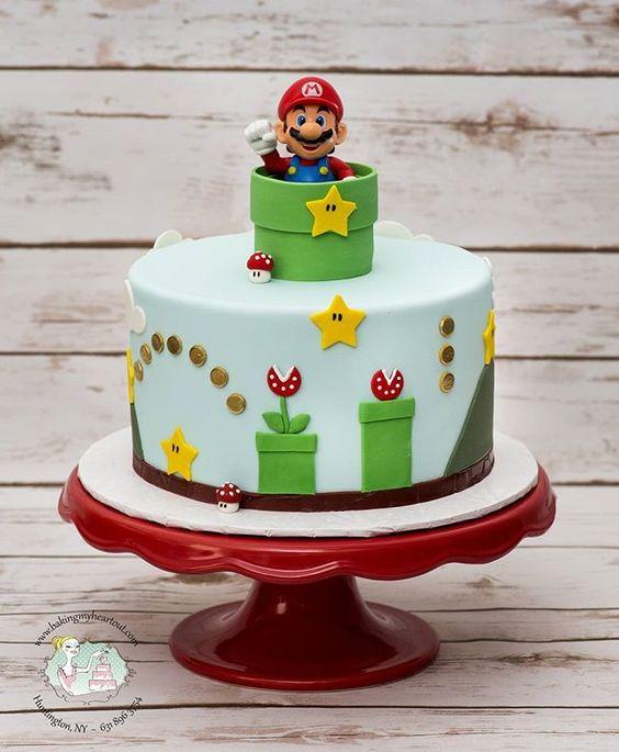 Super Mario Birthday Cake | Super Mario Party Ideas