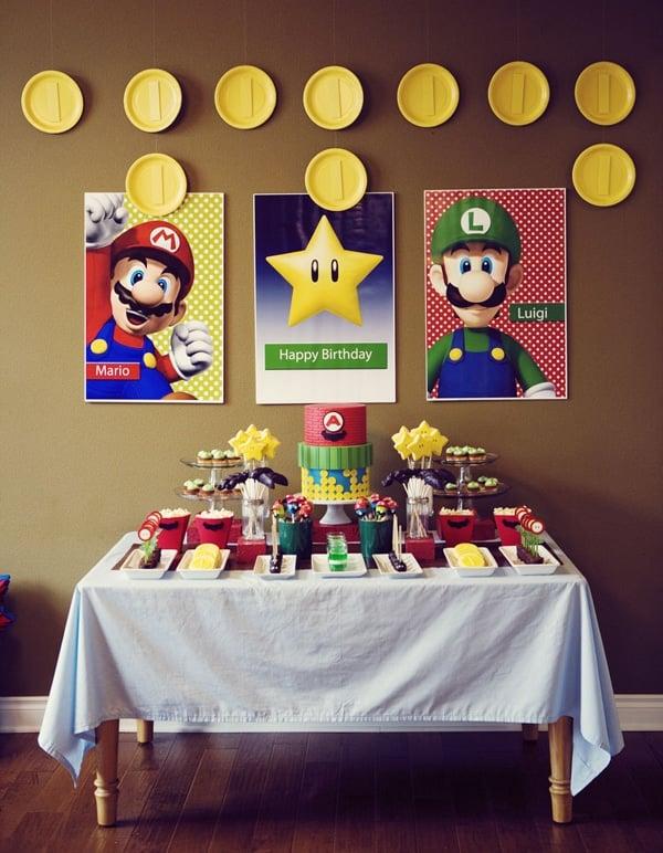 Super Mario Party Dessert Table | Super Mario Party Ideas