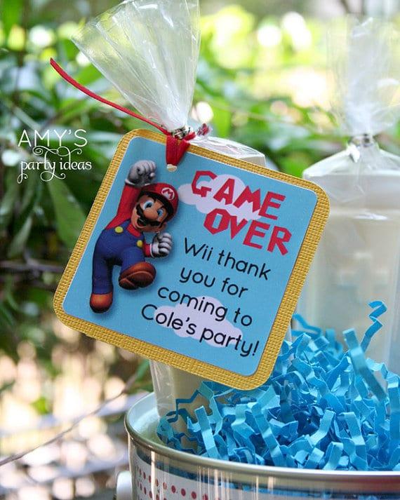 Super Mario Favor Tags | Super Mario Party Ideas